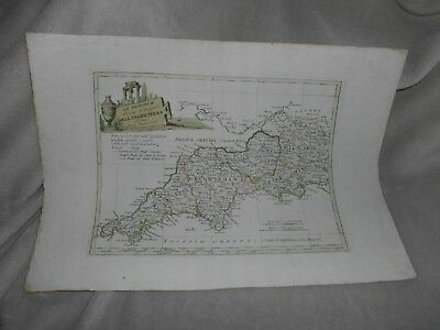 Carli Pazzini 1795 Antique Map Dell Inghilterra England Uk English Sw Counties