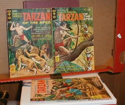 Gold Key Comics Tarzan  Lot X 3  # 187.190.191  Very Good  or Better Condition.