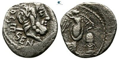 Savoca Coins Rome Neptune Victory Quinarius Silver 1,38g/13mm $KBP399
