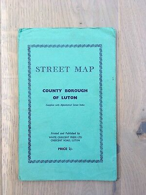 Vintage Street Map - County Borough of Luton - 1950's or 1960's