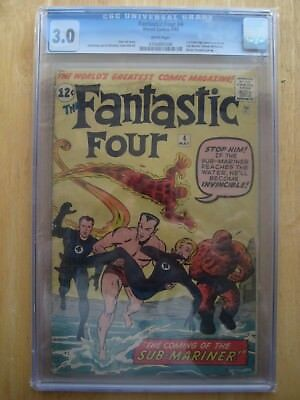 Marvel Comics 3.0 CGC FANTASTIC FOUR #4  1st sub-mariner