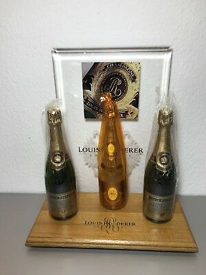 LOUIS ROEDERER CRISTAL 1990 Display Deko 3 Flaschen Dummy * ABSOLUTE TOP RARITÄT