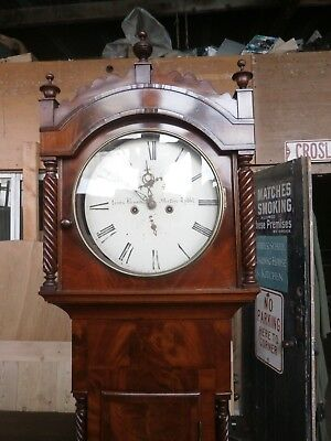 Antique flame Mahogany longcase clock