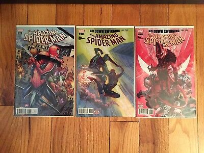 Amazing Spider-Man #797 798 799 Red Goblin Marvel 1st Prints All NM! Ramos-Ross