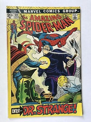 AMAZING SPIDER-MAN #109 June 1972 UNREAD  Dr. Strange Vintage