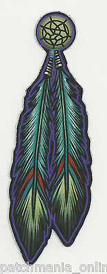 Tribal Indian Native Feathers - Set Of 2  Stickers
