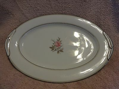 Noritake China Oval Serving Platter, Dish 5794 Roanne Excellent 12 Inches