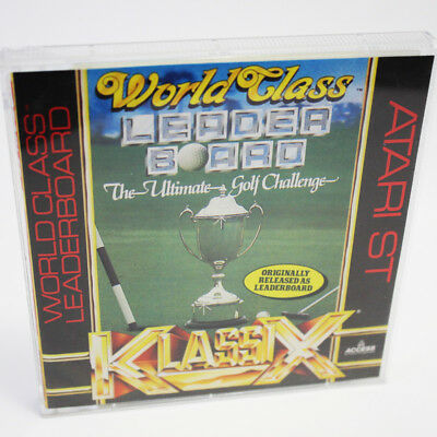 World Class Leaderboard The Ultimate Golf Challenge Atari ST Game TESTED WORKING