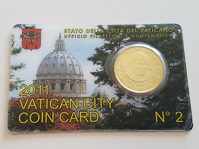 Vatican City Coin Card 2011 No 2 50 Cent
