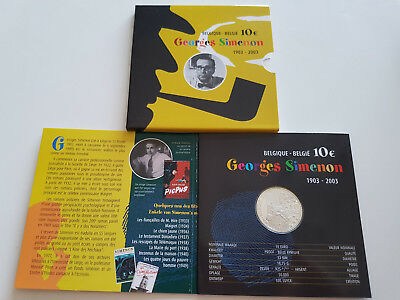 Belgien 2003 10€ Proof GEORGES SIMENON im Folder