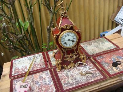 Early 19th ANTIQUE French Japy Freres  Strike Mantle Clock With KEY & Pendulum