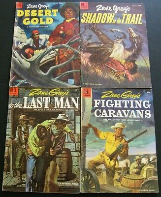 Zane Grey / Four Color # 467 604 616 632 (Lot Of 4)