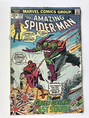 AMAZING SPIDER-MAN #122 July 1973 Vintage UNREAD Death of Green Goblin