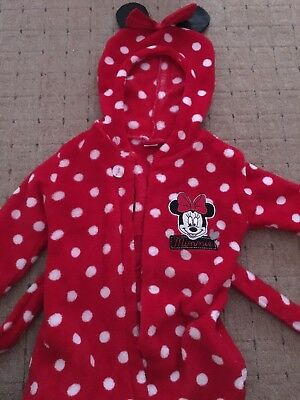 minnie mouse 9-12 months dressing gown