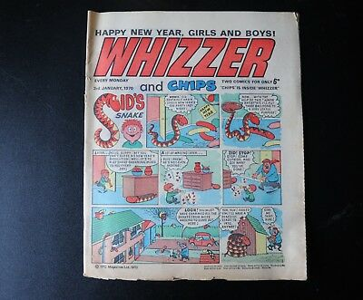 The Whizzer and Chips Comic  Jan 1970  -Very collectable