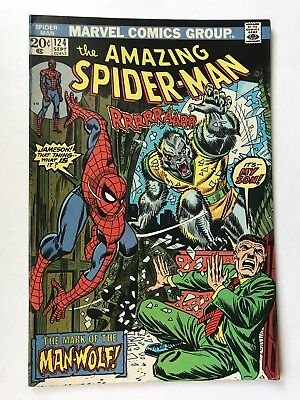 AMAZING SPIDER-MAN #124 September 1973  Vintage UNREAD 1st Appearance Man Wolf
