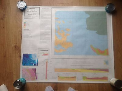CALIFORNIA British Geological Survey Map 1:250000 UTM Series Flat