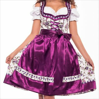 NEW!Germany,German,Trachten,May,Oktoberfest,Dirndl Dress,3-pc.,sz 22 D.Purple.US