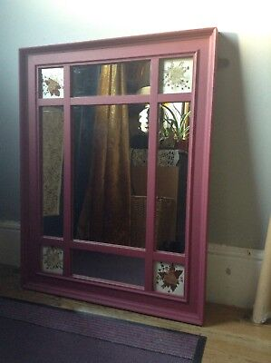 Victorian shabby chic painted mirror