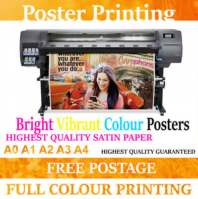 Highest Quality poster Printing Service Water Resistent Poster Printing Service
