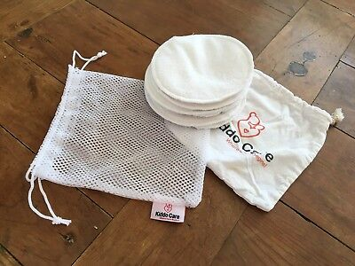 Washable Organic Bamboo Nursing Pads Reusable Breast Pads Mostly Unused