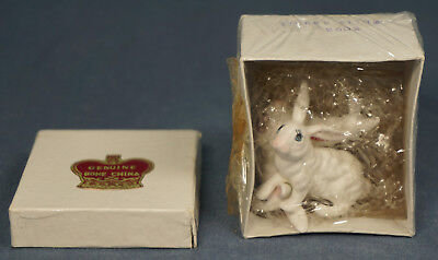Vintage White RABBIT Family 3093 BONE CHINA  ALMCO Creations MINT - UNOPENED!