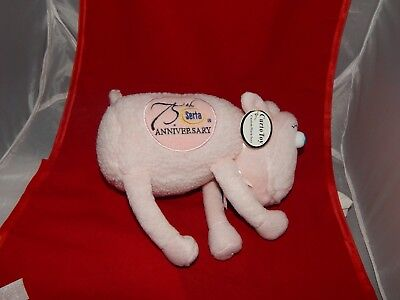 SERTA PINK PLUSH SHEEP- 75th ANNIVERSARY BREAST CANCER- BLUE EYES- TAGS