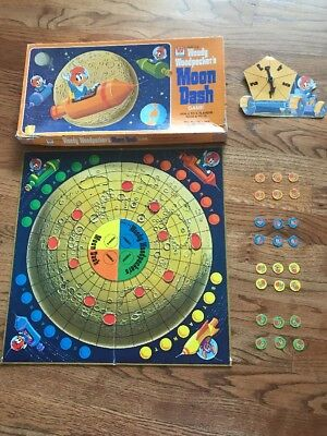 Vintage Complete 1976 Woody Woodpecker's Moon Dash Board Game Walter Lantz 7122F