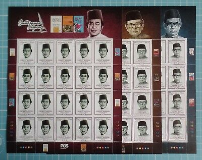Malaysia 2016 - National Laureates - Complete Sheets SG 2139/41