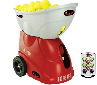Lobster Sports Elite Grand V Tennis Ball Machine with Battery and Remote Control