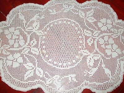 SALE! Vintage Handmade Table Doily Square tablecloth hand crochet lace