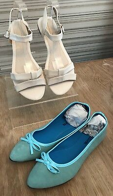 New. 2 Lovely Pairs Summer Flats. Size 8 (41)
