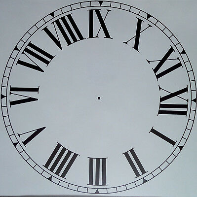 Antique clock dial Roman digit 11 inches diameter vinyl