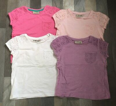 Next Pink Lilac White Embroidered T Shirt Bundle 12 - 18 Months