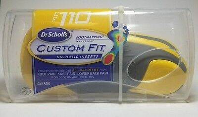Dr. Scholl's Custom Fit CF 110 Orthotic Inserts 1 Pair NIB Fast FREE Shipping