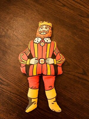 "Vintage Burger King Promotional 13"" Character Stuffed Doll Toy"
