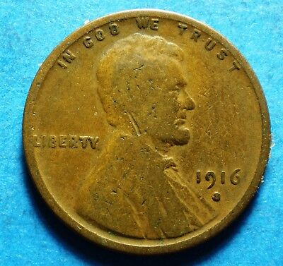 *1916-S*   Lincoln Wheat Cent