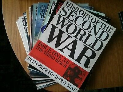 Purnell's History Of The Second World War – volumes 1 to 8 (114 magazines)