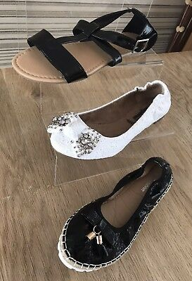 New. Lovely Bundle 3 Pairs Summer Flats. Size 5 (38)