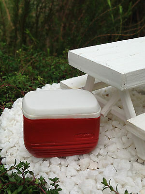 Miniature Dollhouse FAIRY GARDEN Accessories ~ Red Igloo Cooler Ice Chest ~ NEW
