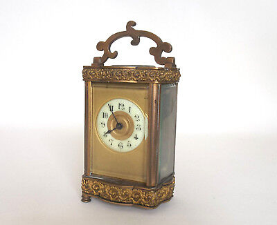 Decorative French Carriage Clock 1900c For Spares or Repair Only