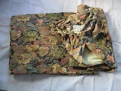 """Vintage large curtains, Tapestry Curtains, 89"""" Drop, Pair Of Lined Curtains"""