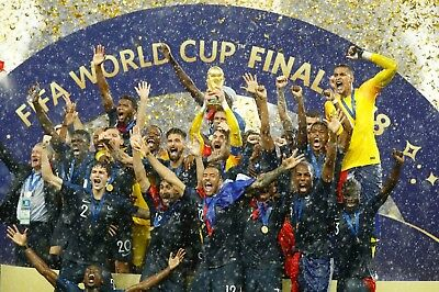 France -  World Cup Winners 2018 - A1/A2/A3/A4 Poster / Photo Print