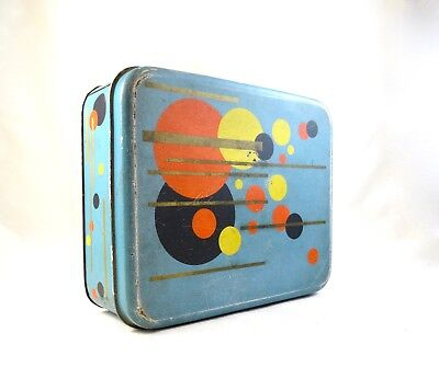Rare german bauhaus Suprematism biscuits tin box bahlsen 30s can art deco 1925
