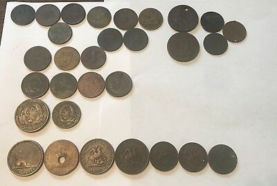 30pc Canadian Bank Token Lot 1811- - 1850's Great Mix Nice Collection