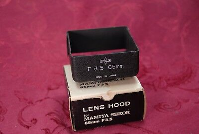 Rare Lens Hood For Mamiya Sekor 65Mm F 3.5 Original Box.