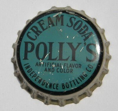 Polly's cream soda cork-lined bottle cap from Independence, MO