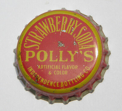 Polly's strawberry cork-lined soda bottle cap from Independence, MO