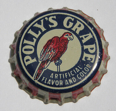 Polly's cork-lined grape soda bottle cap from Independence, MO