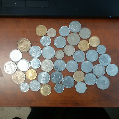 India Coin Lot Years and condition vary over 40 Coins. Great collection!!!!